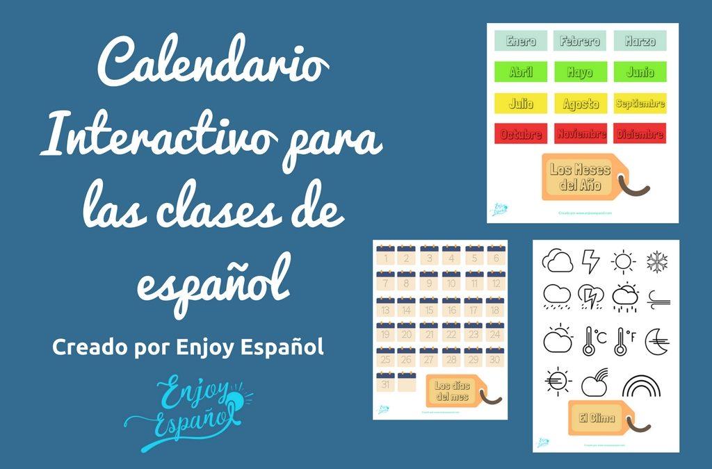 Calendario interactivo para las clases de español