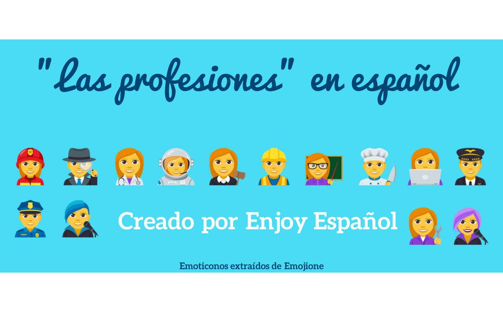Las profesiones en la clase de español