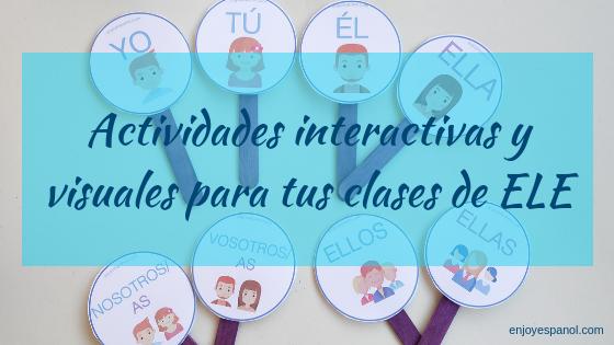 Actividades interactivas y visuales para la clase  de ELE online