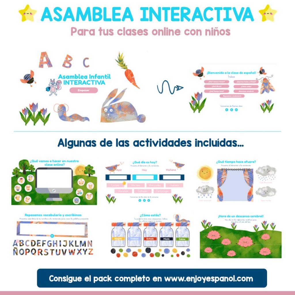 Asamblea online para niños